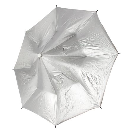 Outdoor Fishing Camping Sun Rain Foldable Headwear Umbrella Hat Cap Silver Tone (Fishing Umbrella Hat)