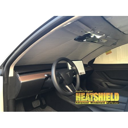 The Original Auto Sunshade, Custom-Fit for Tesla 3 Sedan 2018, Silver Series