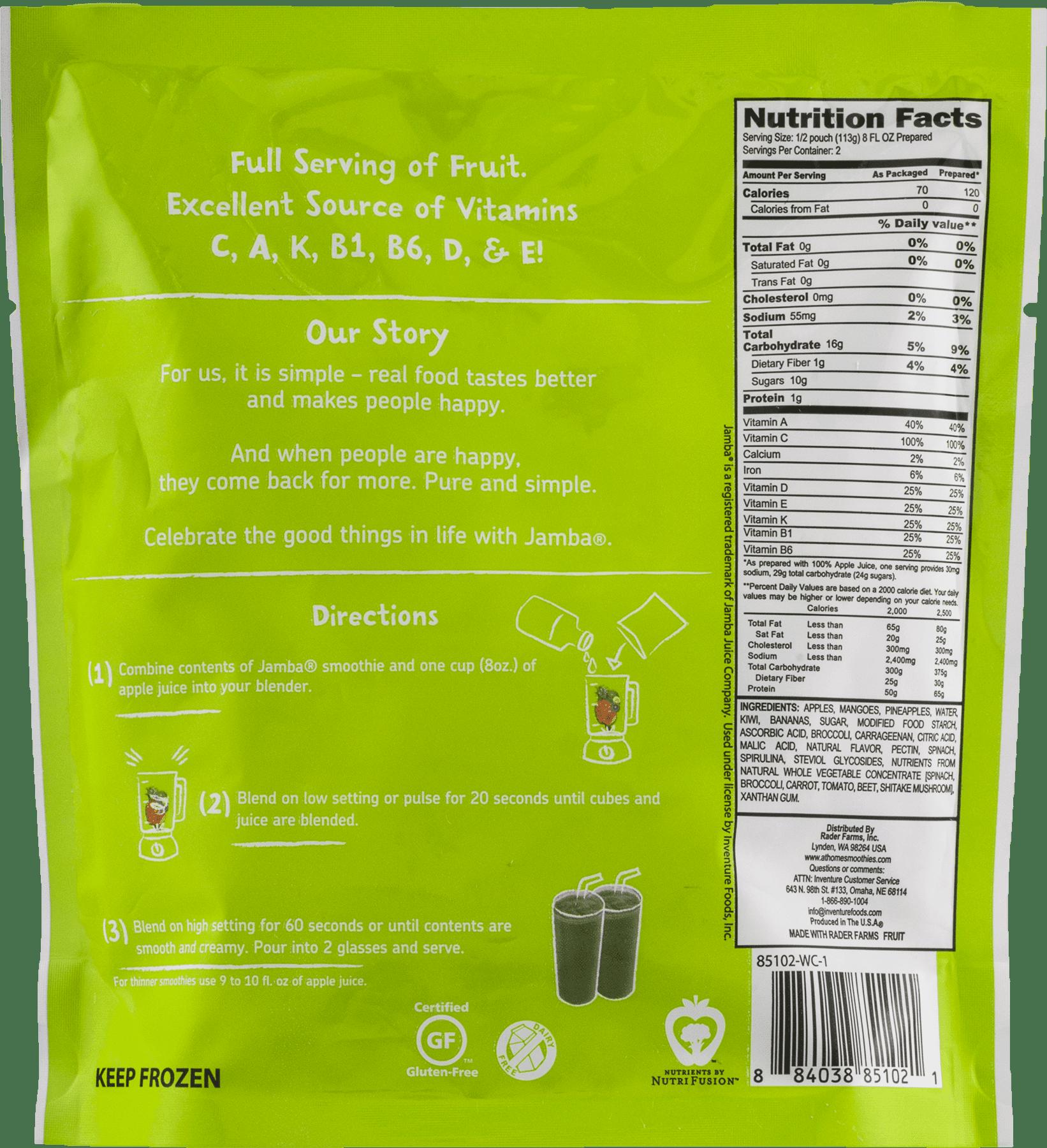 Green Fusion Fruit & Veggie Smoothie