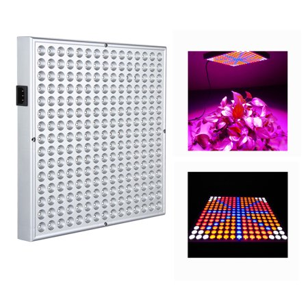 Ktaxon 225-LED Grow Plant Panel Light, 45W Full Spectrum for Hydroponic Green House Plant ,Red & Blue & Orange & White Quad-Band Hanging Light - image 1 of 1