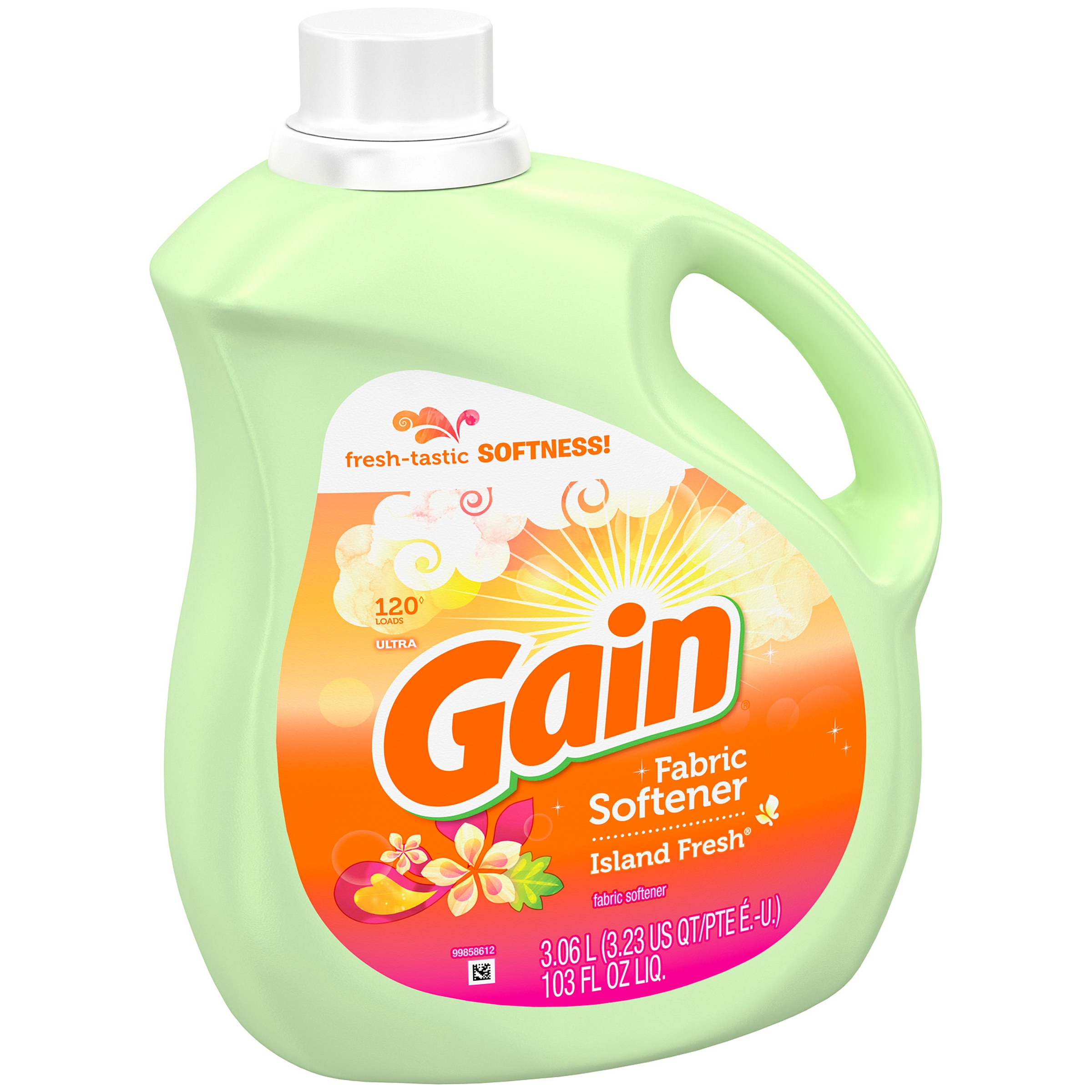 Gain Liquid Fabric Softener, Island Fresh Scent, 120 loads, 103 oz