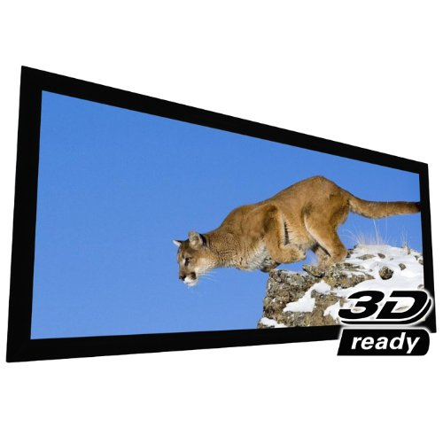 """EluneVision Reference AudioWeave 4K Fixed Frame Screen - Audio-Transparent Material - 130"""" (119"""" x 51"""") Viewable - 2.35:1"""