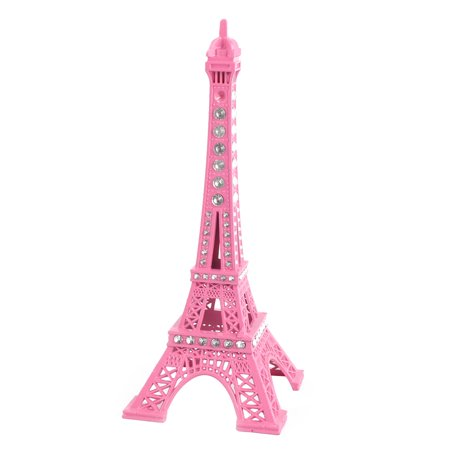 Casket Miniature - Household Metal Miniature Statue Paris Eiffel Tower Model Souvenir Decor Pink