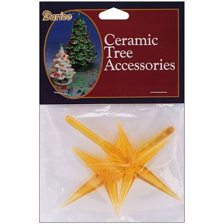 Ceramic Christmas Tree Star 2 Pkg