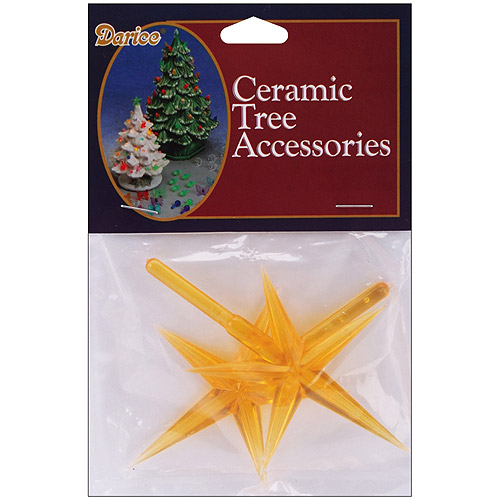 Ceramic Christmas Tree Star, 2/Pkg