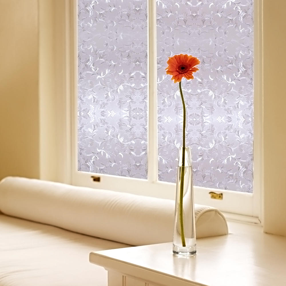 "LIVINGbasics™ 3D Static Decorative Privacy Window Films with Heat Control Anti UV , 24"" x 79"" - image 1 of 5"
