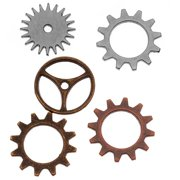 Tim Holtz Idea-ology Embellishments - Sprocket Gears (12 Piece Pack)