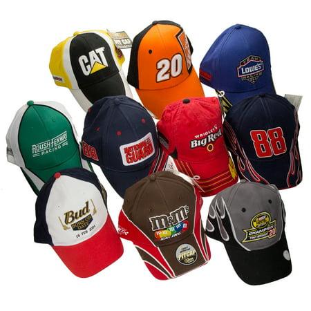 Lot of 10 Assorted Random NASCAR Hats Racing Caps Adjustable Size Bulk  Wholesale - Walmart.com 295e820bfa2