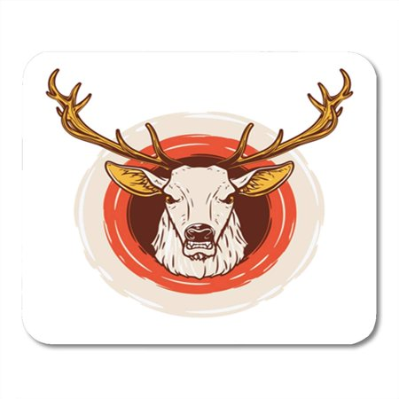 LADDKE Elk Deer Head Buck Stag Anatomy Antelope Antler Black Mousepad Mouse Pad Mouse Mat 9x10 (Mouse Anatomy)