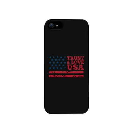 Trust   Love Usa Black Phone Case