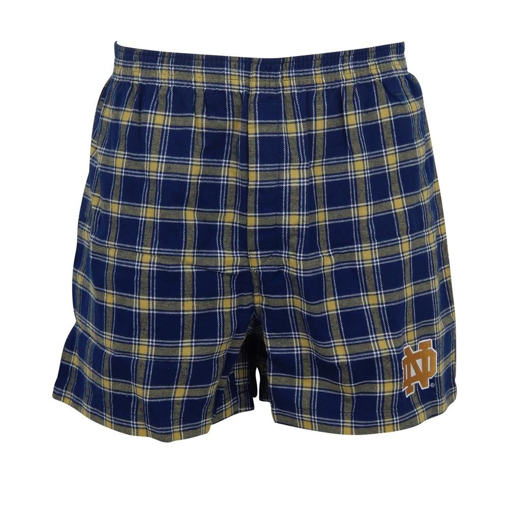 Men's Notre Dame Fighting Irish Plaid Flannel Boxers