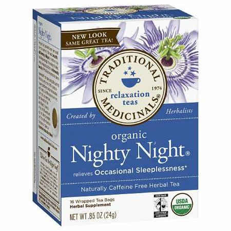 Traditional Medicinals Caffeine Free Herbal Tea Bags, Nighty Night 0.85 oz (Pack of (Nighty Night Tea Bags)