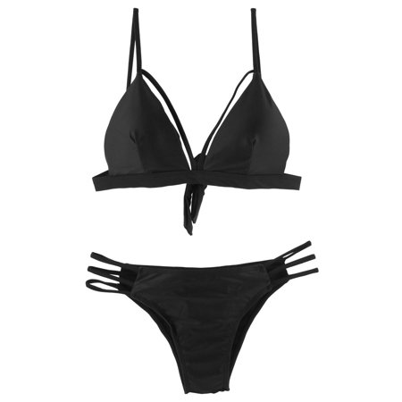 Women Summer Swimming Adjustable Strap Bikini Set Swimsuit