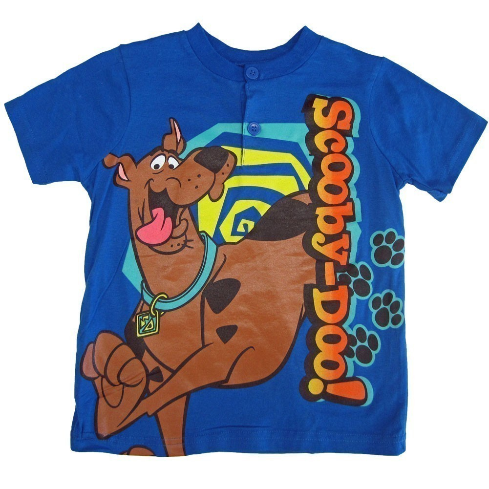Cartoon Network Little Boys Royal Blue Scooby Doo Print T-Shirt 4-7