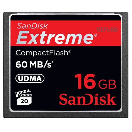 SanDisk Extreme 16GB CF Card 60MB/s SDCFX-016G-X46 (Certified Refurbished)](sandisk 16gb cf card)