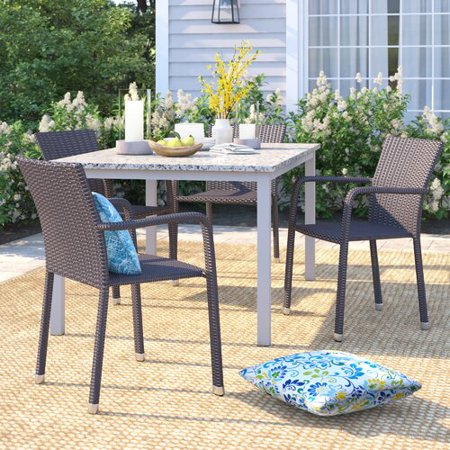 Cool Sol 72 Outdoor Blakely Stacking Patio Dining Chair Set Of 4 Spiritservingveterans Wood Chair Design Ideas Spiritservingveteransorg