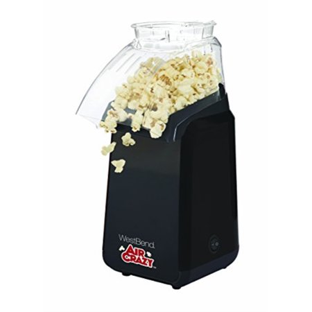 West Bend 82418BK Air Crazy Hot Air Popcorn Popper Pops Up To 4 Quarts of Popcorn Using Hot Air,