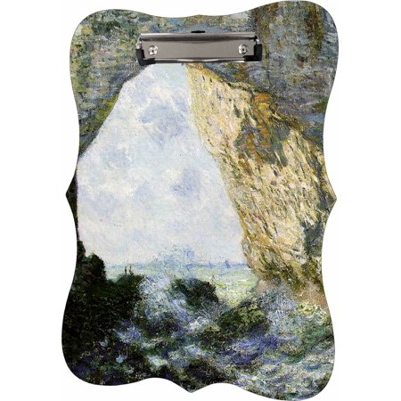 Claude Monet's Rock Arch West of Eretrat - Benelux Shaped 2-Sided Hardboard Clipboard - Dry Erase (Arch Hardboard)