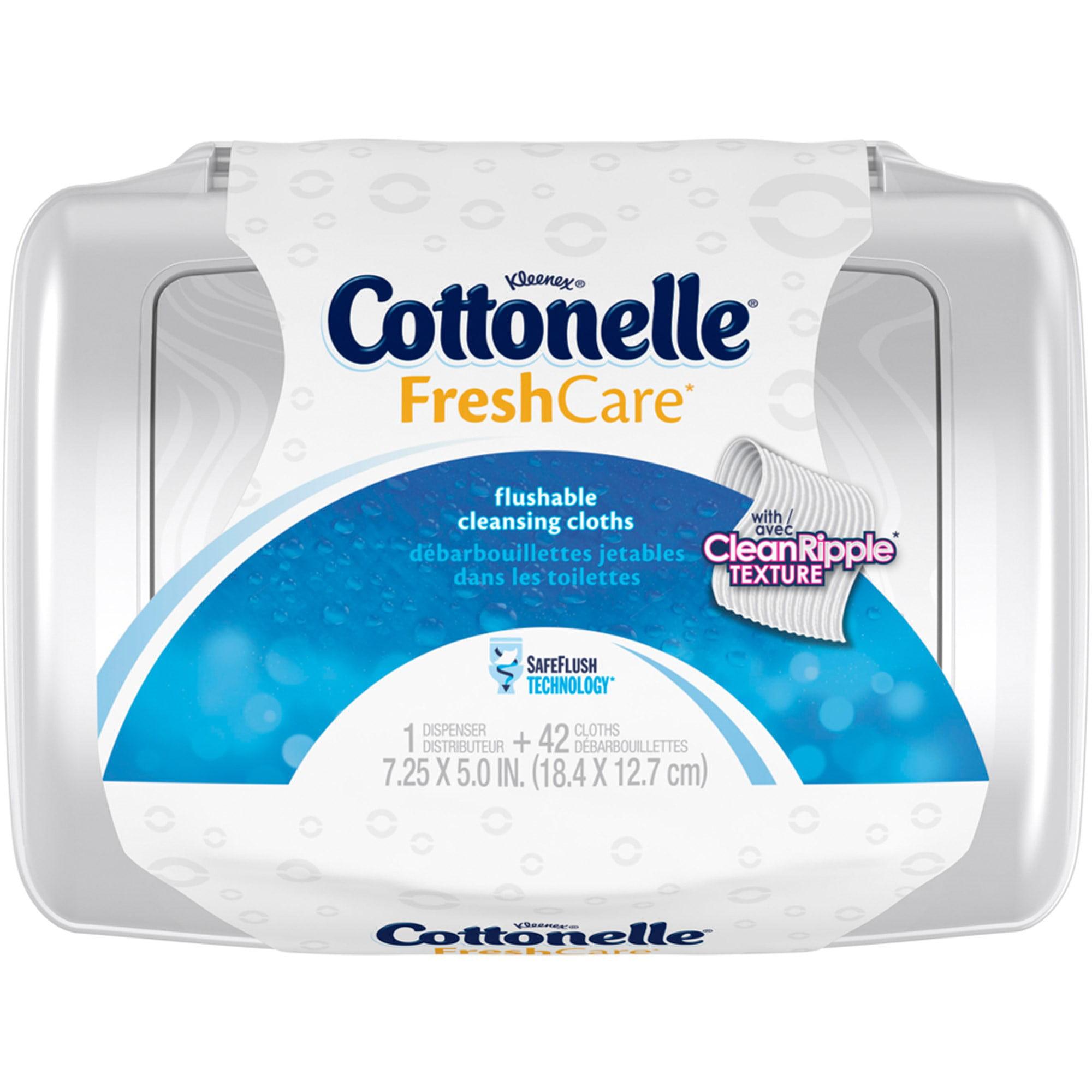 Cottonelle Fresh Care Flushable Cleansing Cloths, 42 Sheets