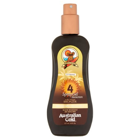 Gel SPF4 Spray Tan w - Bronzer  Crème solaire