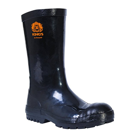 Kings by Honeywell KDNEO02 Black Waterproof Dipped Neoprene Work Boots 12