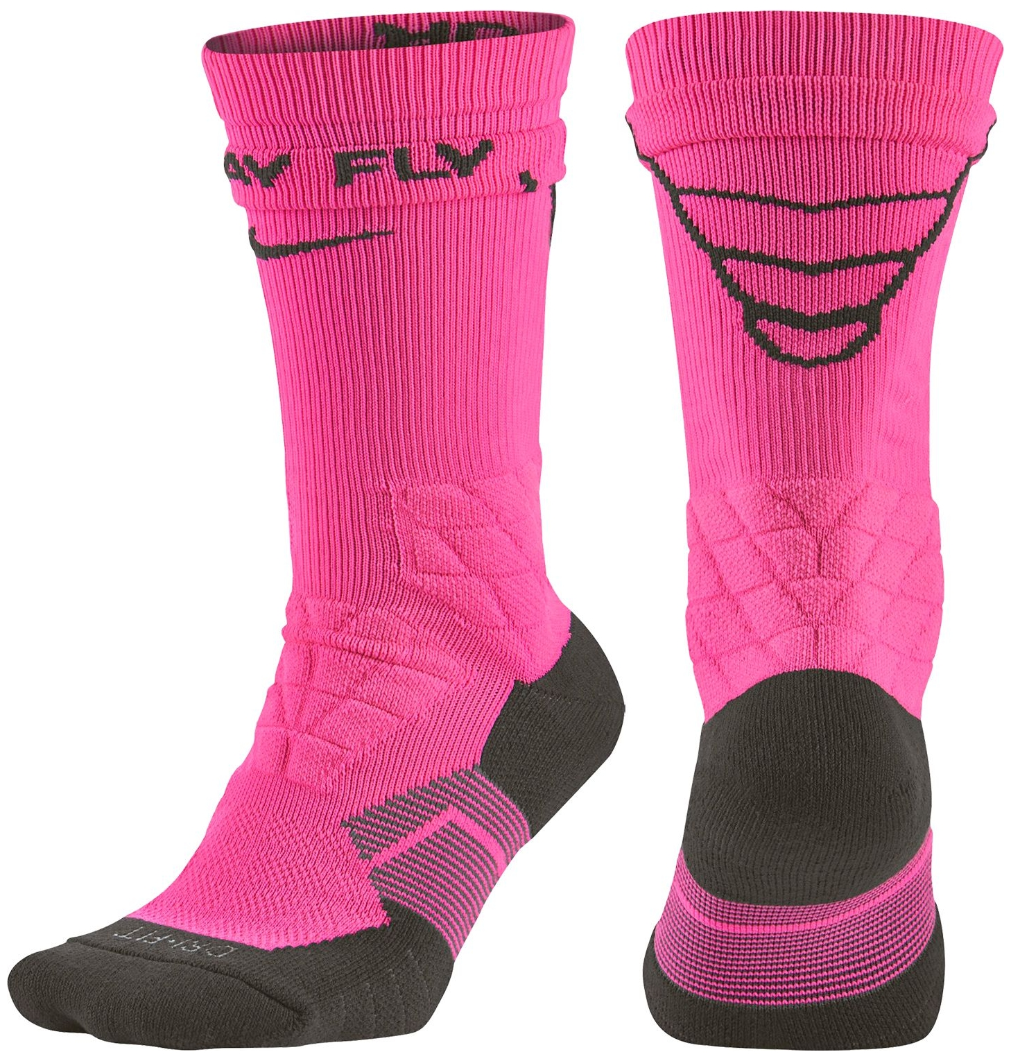 Nike Dri-FIT 2.0 Vapor Elite Crew Football Socks (Pink Po...