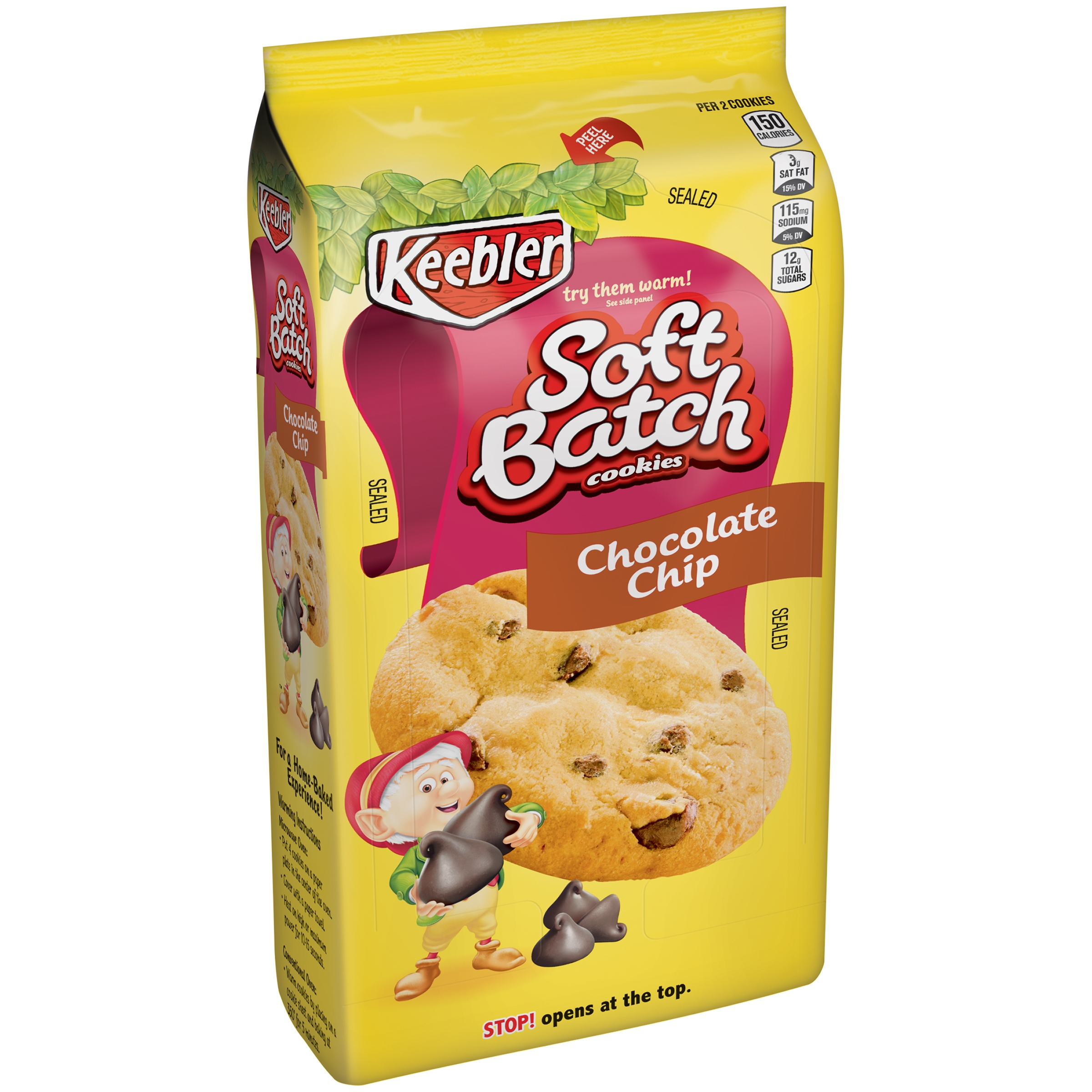 Keebler Soft Batch Cookies Chocolate Chip 15 oz. Pack