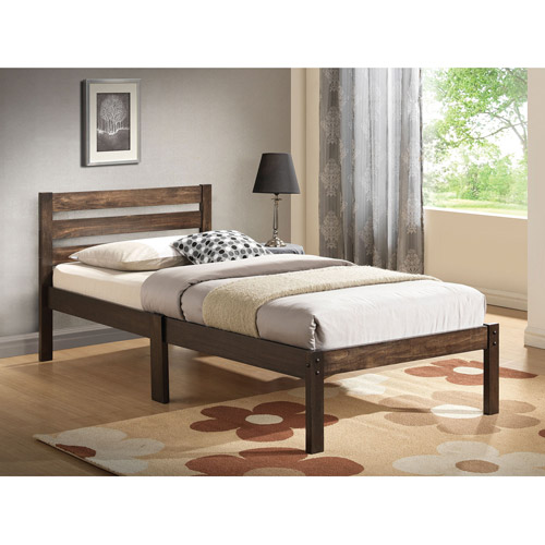 Dontao Wooden Twin Bed Multiple Colors Walmart