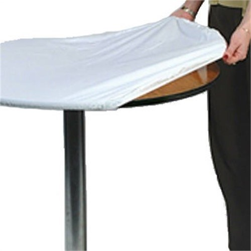 Kwik-Covers 60Pk-W 60 Inch Round Packaged Kwik-Cover- White- Pack of 25
