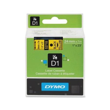 Dymo Black on Yellow D1 Label Tape DYM53718 by
