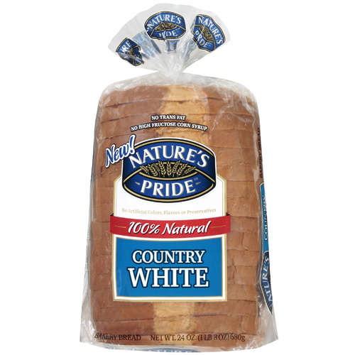 Nature's Pride Country White Bakery Bread, 24 oz