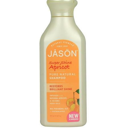2 Pack   Jason Super Shine Apricot Shampoo 16 Oz