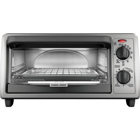 Black & Decker 4-Slice Toaster Oven, Metallic Black by