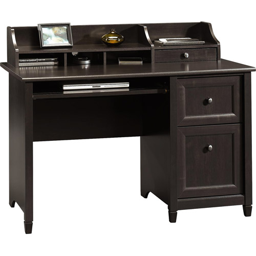 Sauder Edge Water Computer Desk, Estate Black