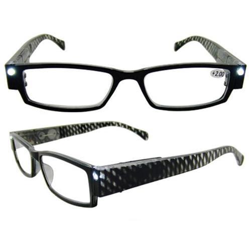eyebeamers 004 2 00 led lighted reading glasses black