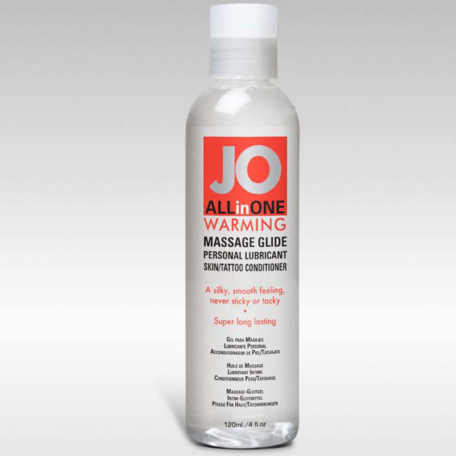 JO All-In-One Massage Glide Warming Silicone-Based Personal Lubricant - 4 oz