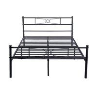 Teraves Platform Metal Bed Frame Foundation Headboard Furniture Bedroom Full Size