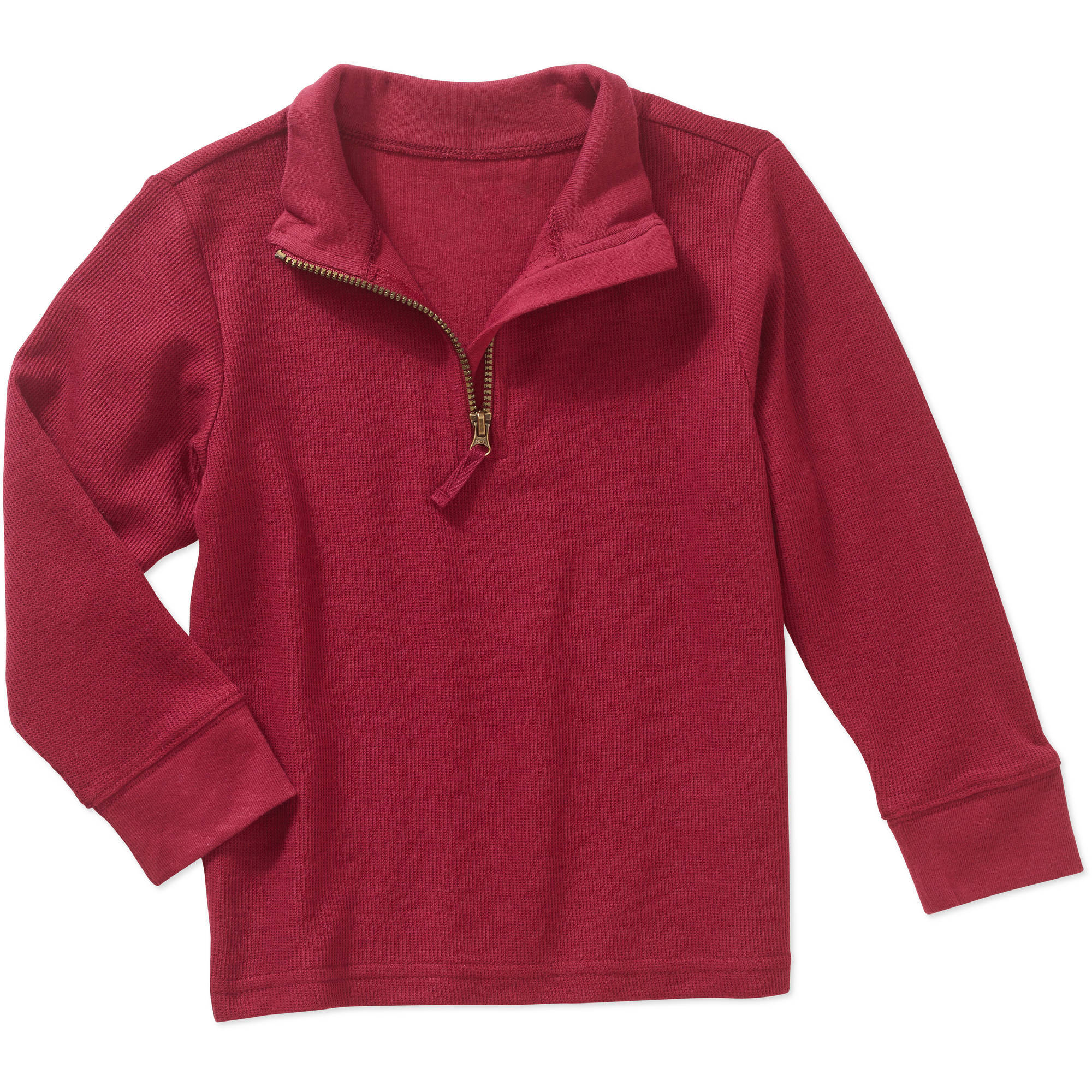 Healthtex Toddler Boy 1/4 Zip Mock Neck Long Sleeve Shirt