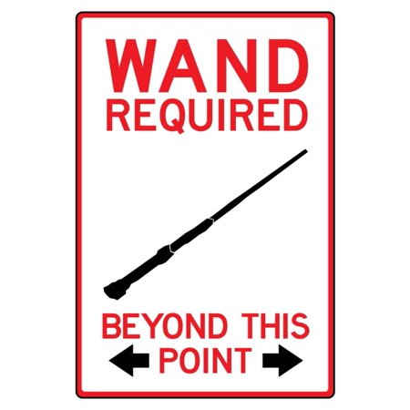 Wand Required Past This Point Sign Poster - 13x19