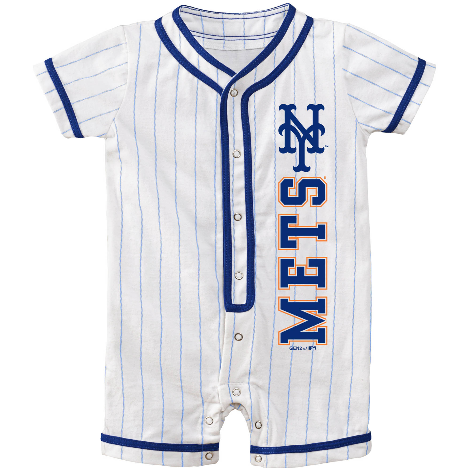New York Mets Newborn Game Ready Coverall Romper - White