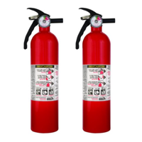 Kidde 1A10BC Basic Use Fire Extinguishers, Rust Resistant, Multipurpose, Lightweight, 2.5 lbs. 2 Pack.