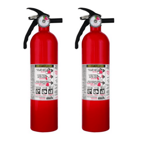 Kidde 1A10BC Basic Use Fire Extinguishers, Rust Resistant, Multipurpose, Lightweight, 2.5 lbs. 2 Pack.](Fire Extinguisher Squirt Gun)