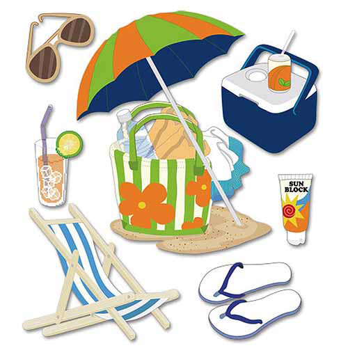 Jolee's Boutique Dimensional Stickers, Summer Gear