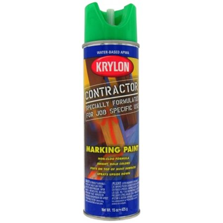 Krylon Division 7314 15 Oz Apwa Green Water Based Contractor Marking Spray Paint Pack Of 6