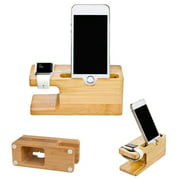 New Wooden Charger Holder Charging Docking Stand Station For iWatch ; iPhone