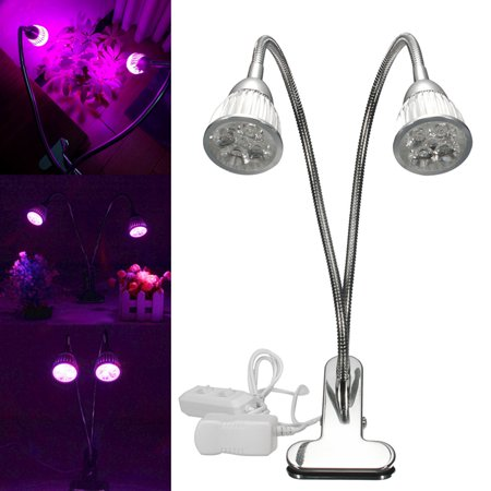 10W LED Grow Light Desk Flexible Clip On Hydro Flower Full Indoor Plant Lamp USA ()