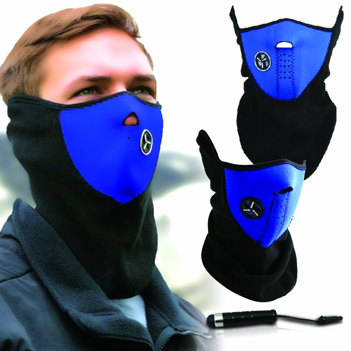 Unisex Ski Mask Neck Warmer, Neoprene Face Mask Winter Cold Weather Face Mask for Motorcycles, Bicycle, Skiing, Running... by