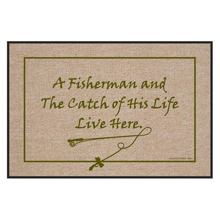 High Cotton Fisherman & Catch of Life Indoor/Outdoor Door Mat