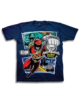 "Boys' ""Dino Charge"" Character Panels Short Sleeve Graphic T-Shirt"