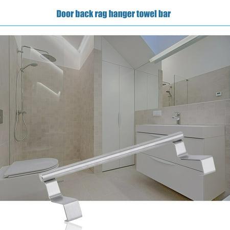 23cm Stainless Steel Towel Bar Holder Hook Storage Rack Door Hanging Kitchen - image 4 de 11